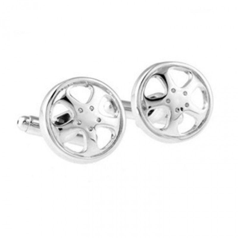 Steering #Wheel - Silver #Cufflinks #cufflinkspalace