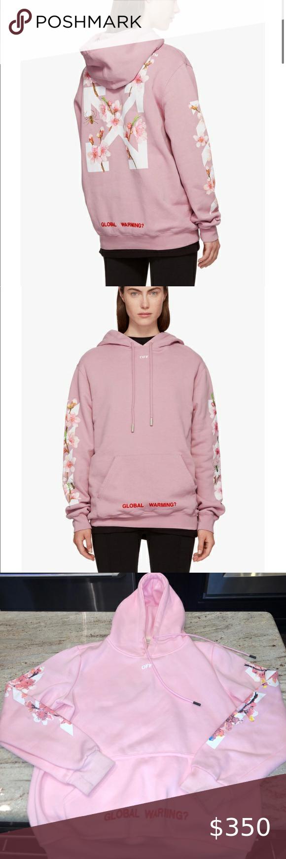 Off White Pink Cherry Blossom Sweatshirt Fashion Clothes Design Fashion Tips [ 1740 x 580 Pixel ]