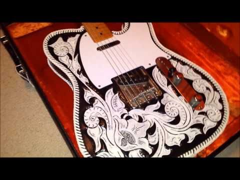 Custom Hand-Tooled Waylon Jennings Leather Guitar Cover- 1952 ...