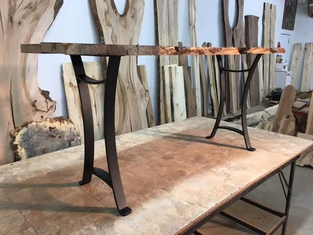 28 Inch Tall Steel Golden Gate Sofa Table Base Set Part L 157