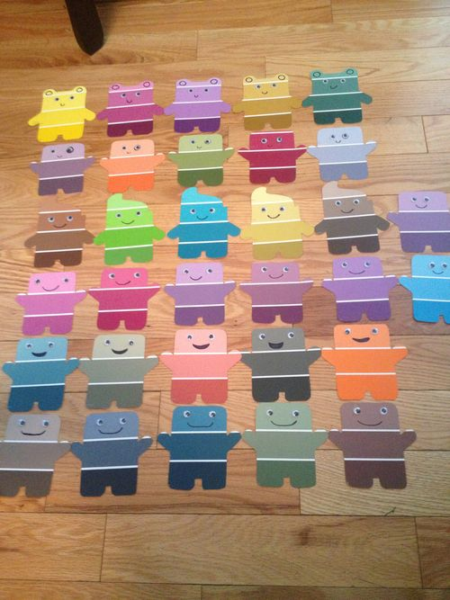 Easy And Adorable Door Decs Made From Paint Color Sticks Ra