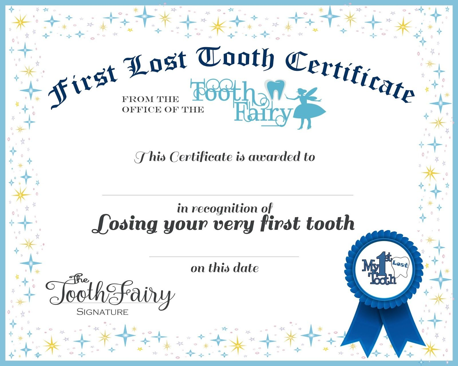 Tooth Fairy Letter Your Child S 1st Missing Tooth Girl