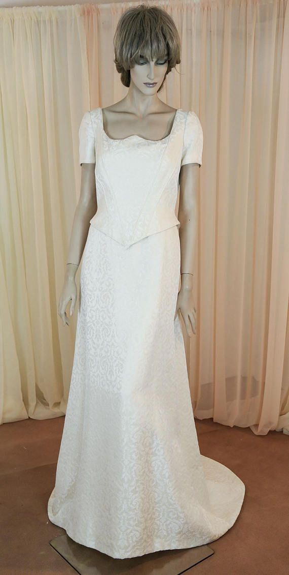 90\'s Vintage Wedding Dress - Elegant damask wedding dress from the ...