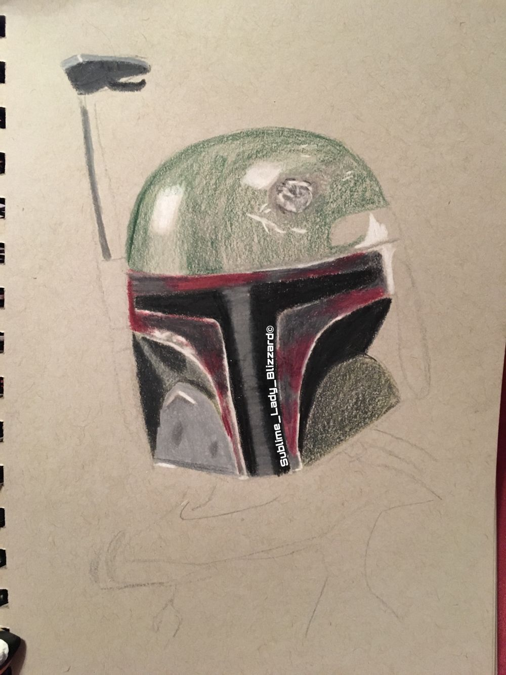 Layering progress on Boba Fett, I\'ve never worked with greens on a ...