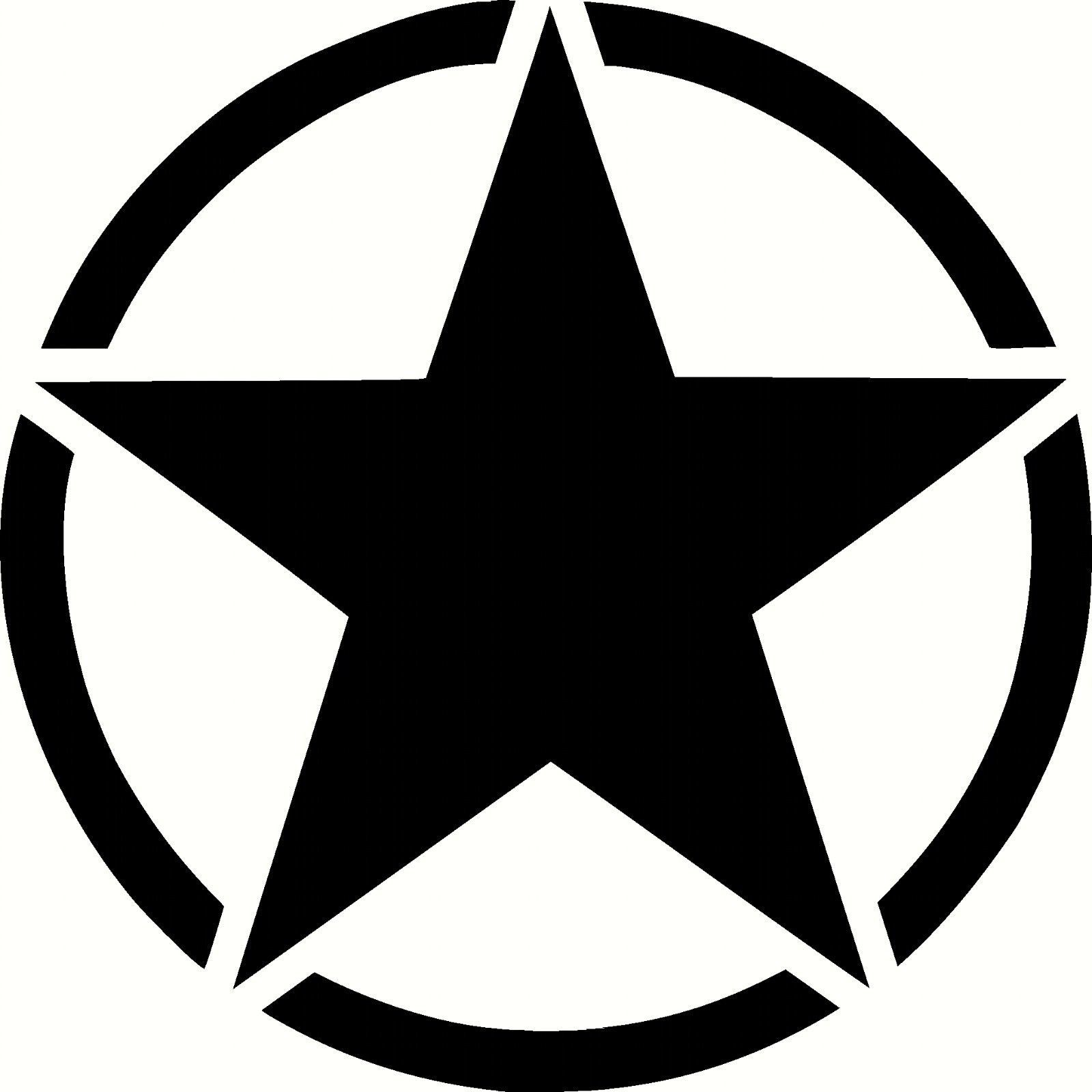 Army Star Vinyl Sticker Decal Military Choose Size /& Color