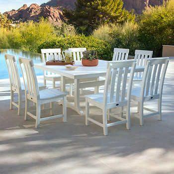 prescott 9 piece dining set by polywood