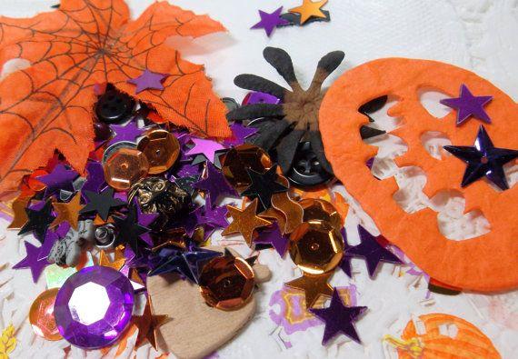 Halloween Treasure Ephemera Collage Art Kit  Grab by wiggelhevin, $12.00