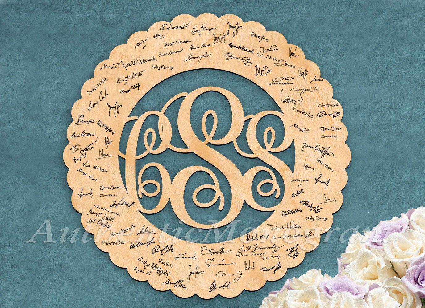 WEDDING ANNIVERSARY Wooden Monogram Flower Bouquet Wall Art Home ...