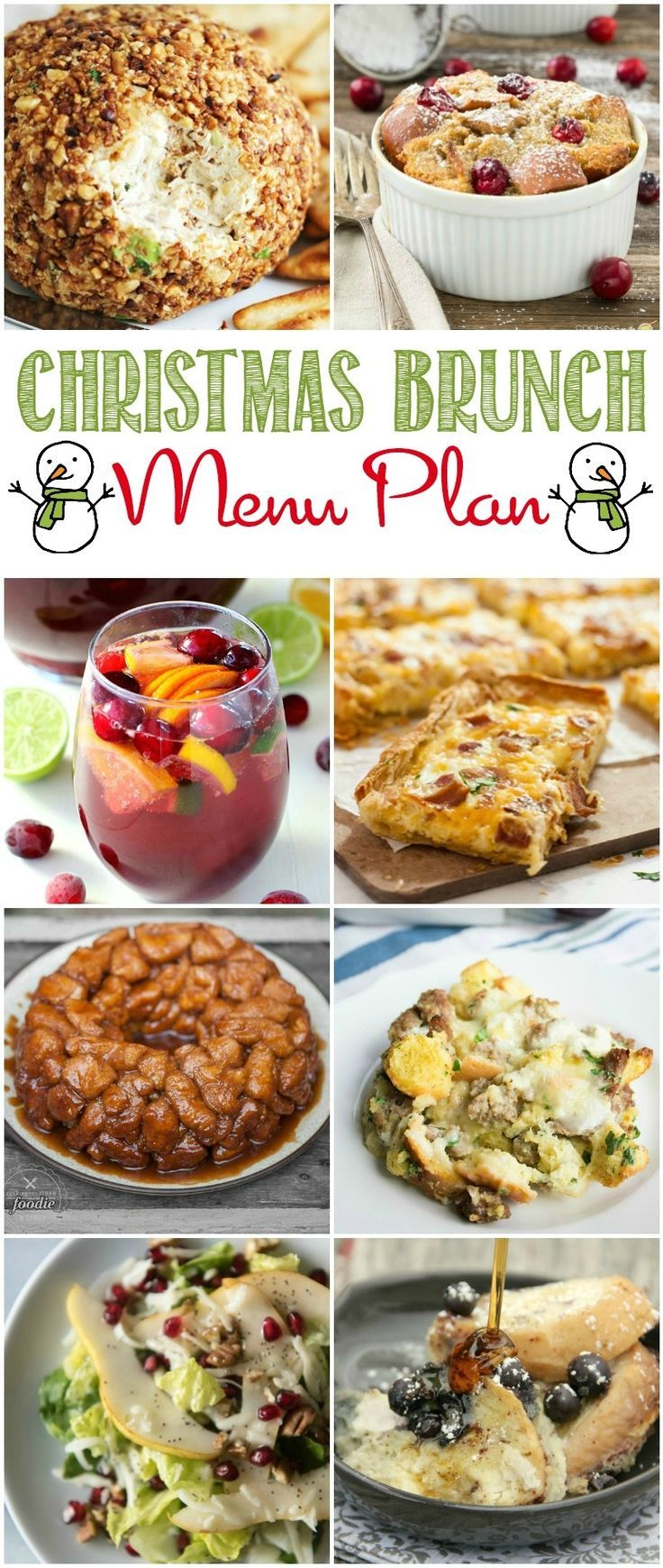 my christmas brunch menu plan will make planning for a big crowd