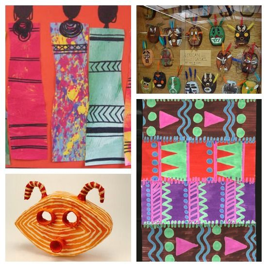 20 african art project ideas for kids kidsart for African arts and crafts history