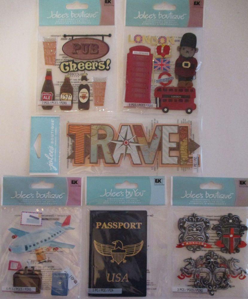 Scrapbook paper england - Jolee S Boutique Scrapbooking Stickers England London Pub Royal Travel Joleesboutique