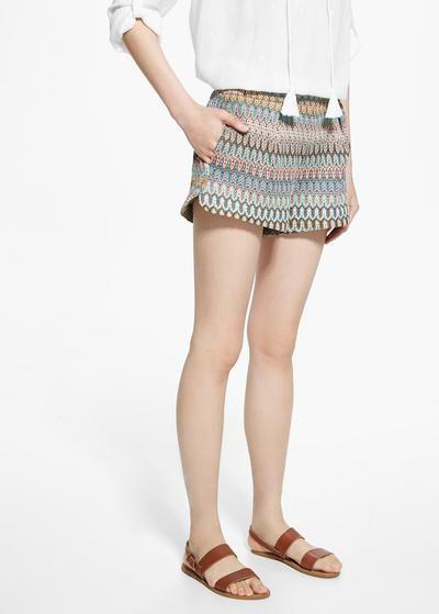Mehrfarbige shorts -  Damen | MANGO #shorts #women #covetme