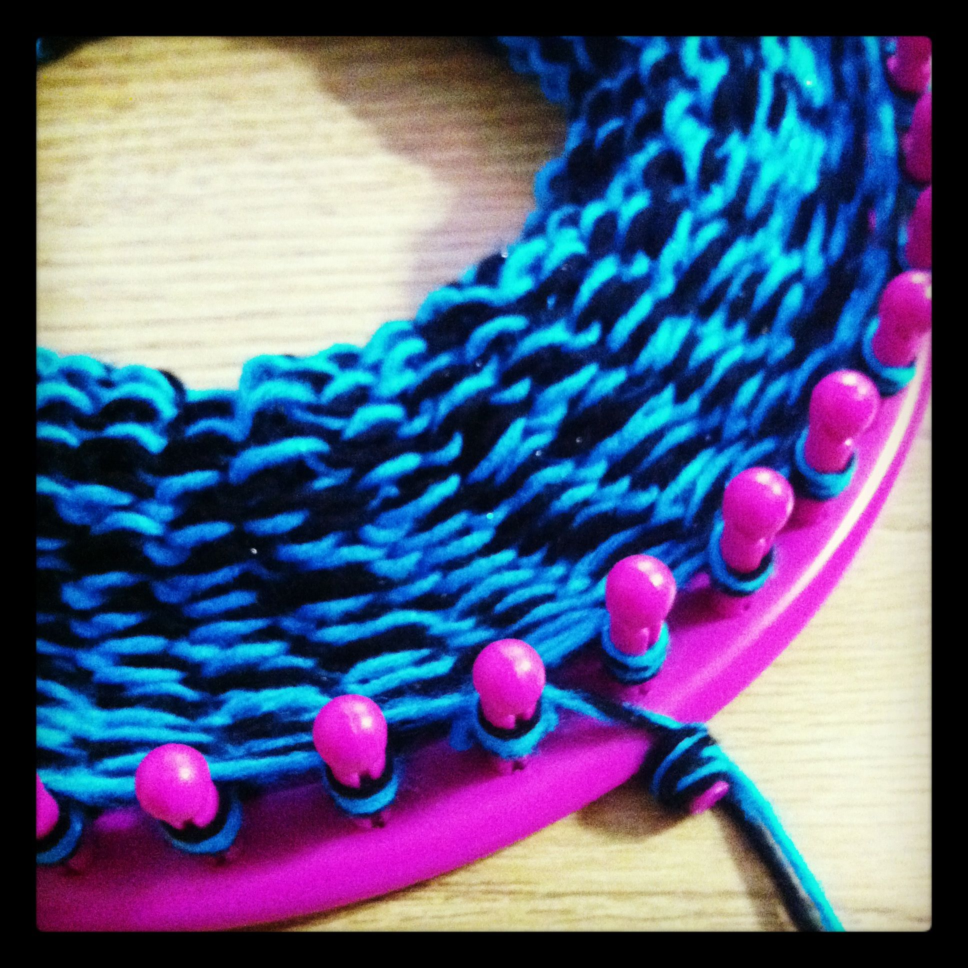 Knitting Loom Scarf : Infinity scarf cowl tutorial round loom and knitting