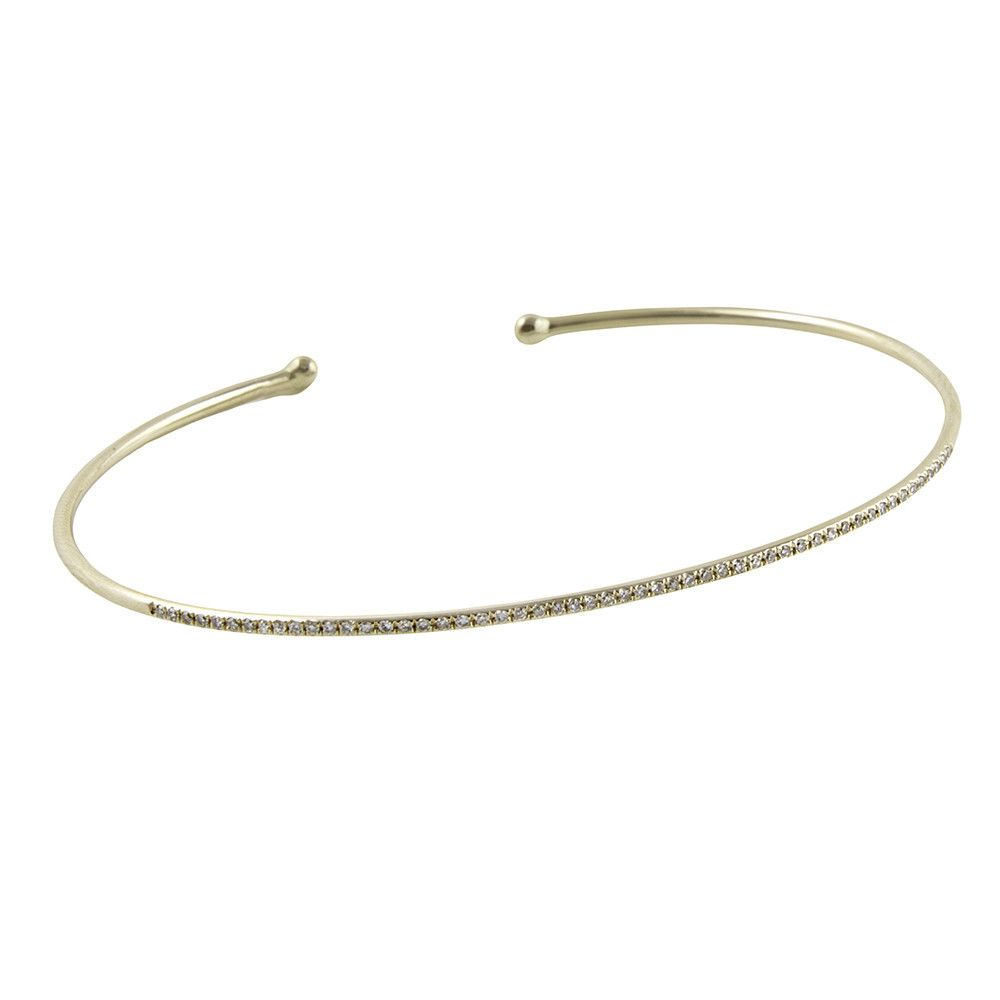 products rose diamond thin pave gold bangles bracelet img bangle