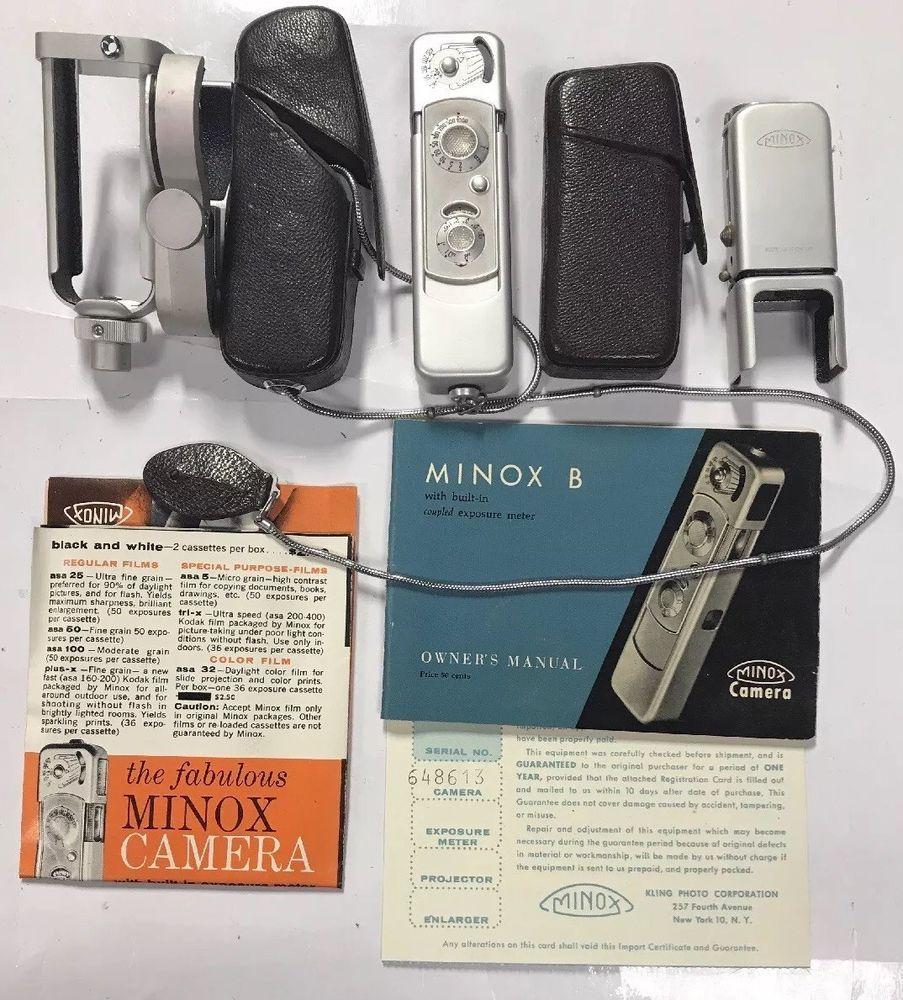 Vintage Minox Wetzlar B Spy Camera W Complan 135 F15mm Lens