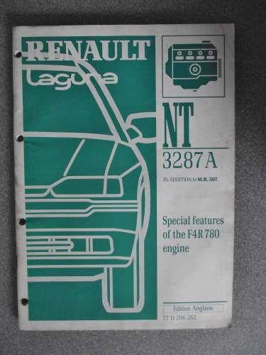 Renault Laguna Special Features F4R780 Engine Manual 1999