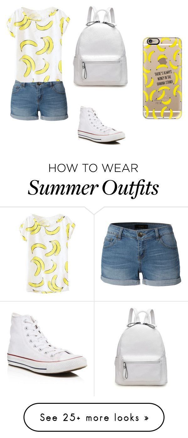 """""""Summer outfit"""" by kristinarus on Polyvore featuring LE3NO, Converse and Casetify"""