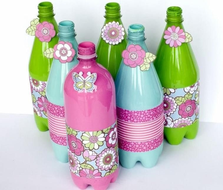 botellas decoradas Manualidades Para Hacer en Casa Pinterest Craft