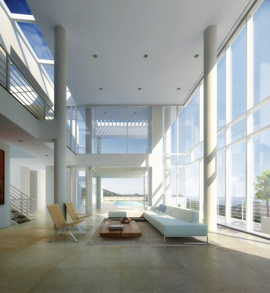 Bodrum houses richard meier partners architects interior simply sophisticated - Modern beach house interior ...