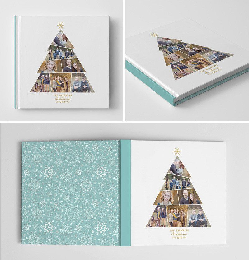 Holiday Book Album Cover Template Christmas Tree Template - psd album cover template