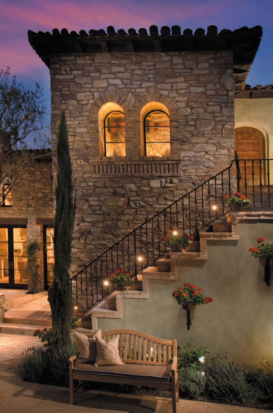 Old world mediterranean italian spanish tuscan homes for Italian country home plans