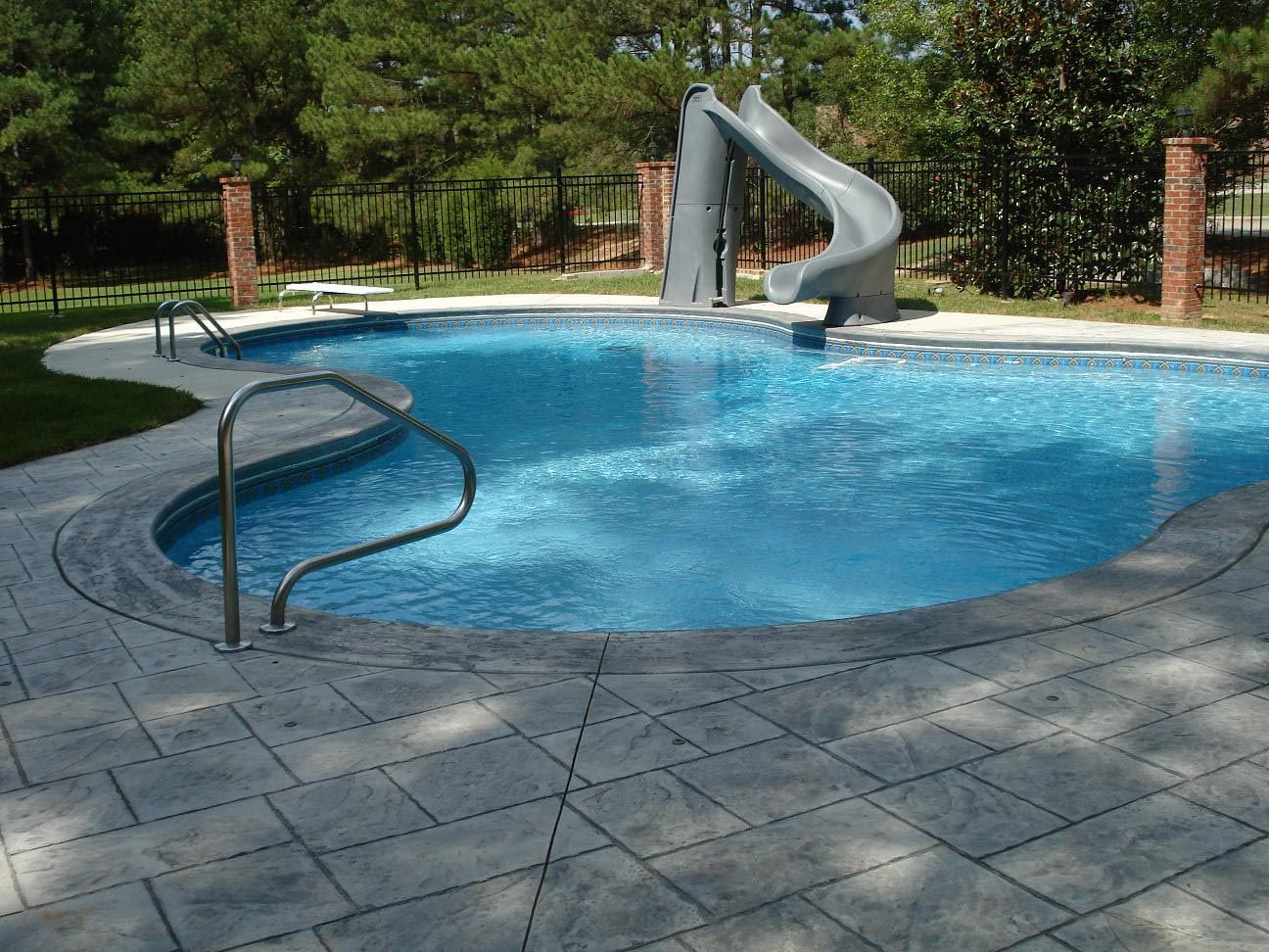 Water Slides For Home Pools Backyard Pool Landscaping Swimming