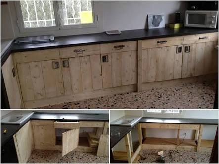 Image result for plan kitchen wall unit built from pallets ...