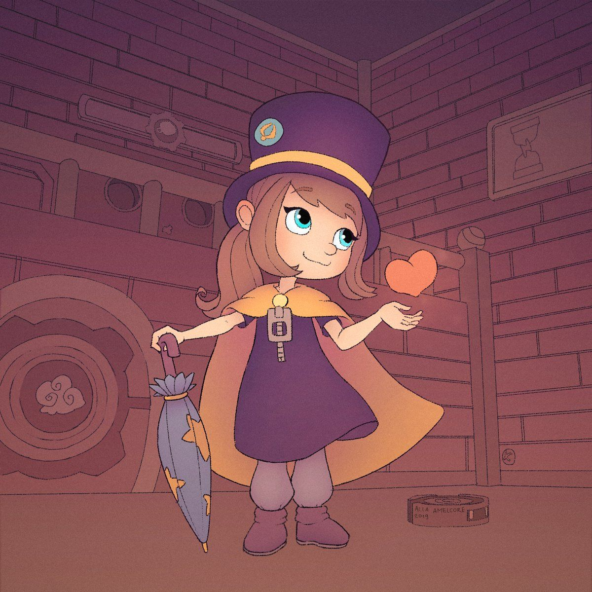 Amelkor Bezzakonie On Twitter Drew This Art Based On A Hat In Time Love This Game So Much 3 Hatintime A Hat In Time Hat In Time Art A Hat