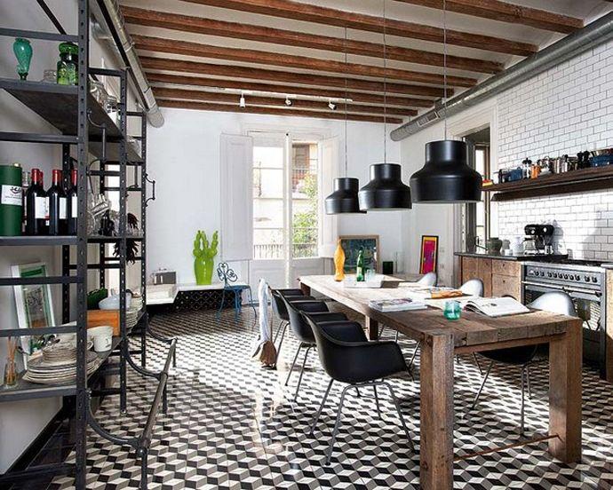 Barcelona Style Retro Modern Interior Design Project By Egue Y Seta Industrial Kitchen Design House Interior Home