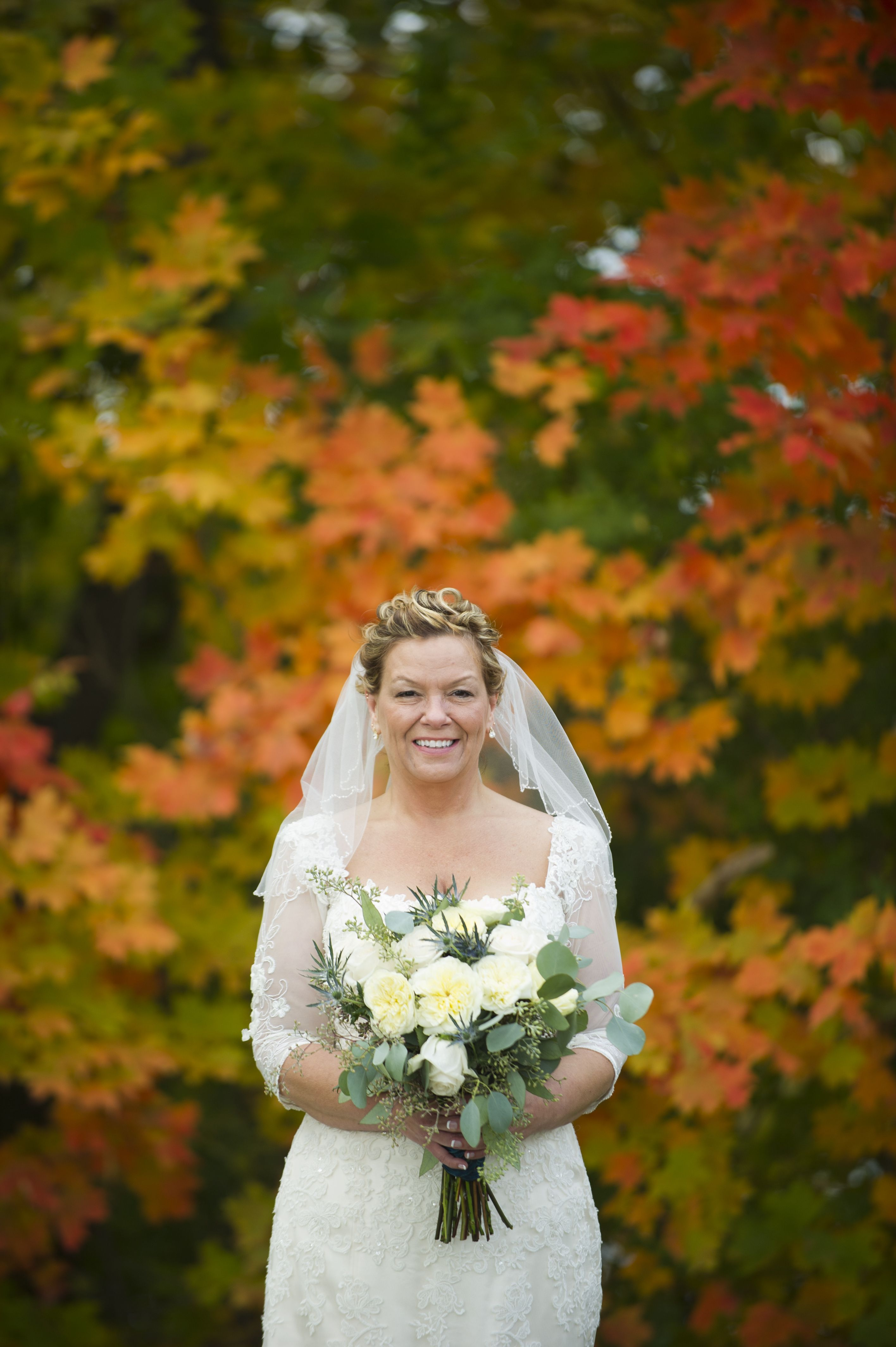Autumn colors ivory wedding dress with images ivory