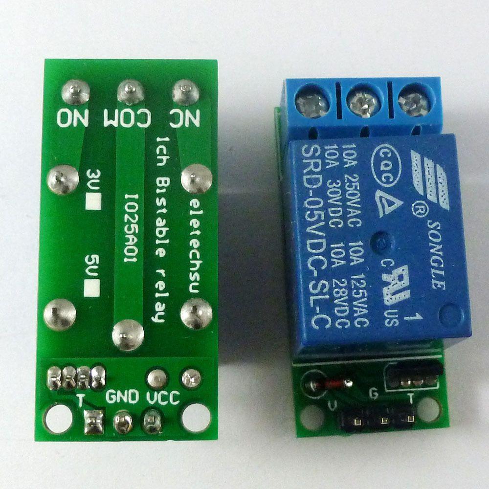 5V Latch Relay Module FlipFlop Bistable Selflocking Trigger