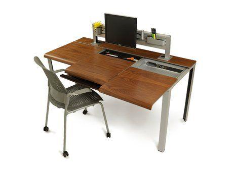 Sleek Slim Minimal Desk Has A Hidden Place For Everything Desk