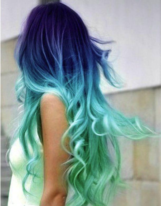 Meerjungfrauen Haare Mermaid Hair Haare Bunte Haare