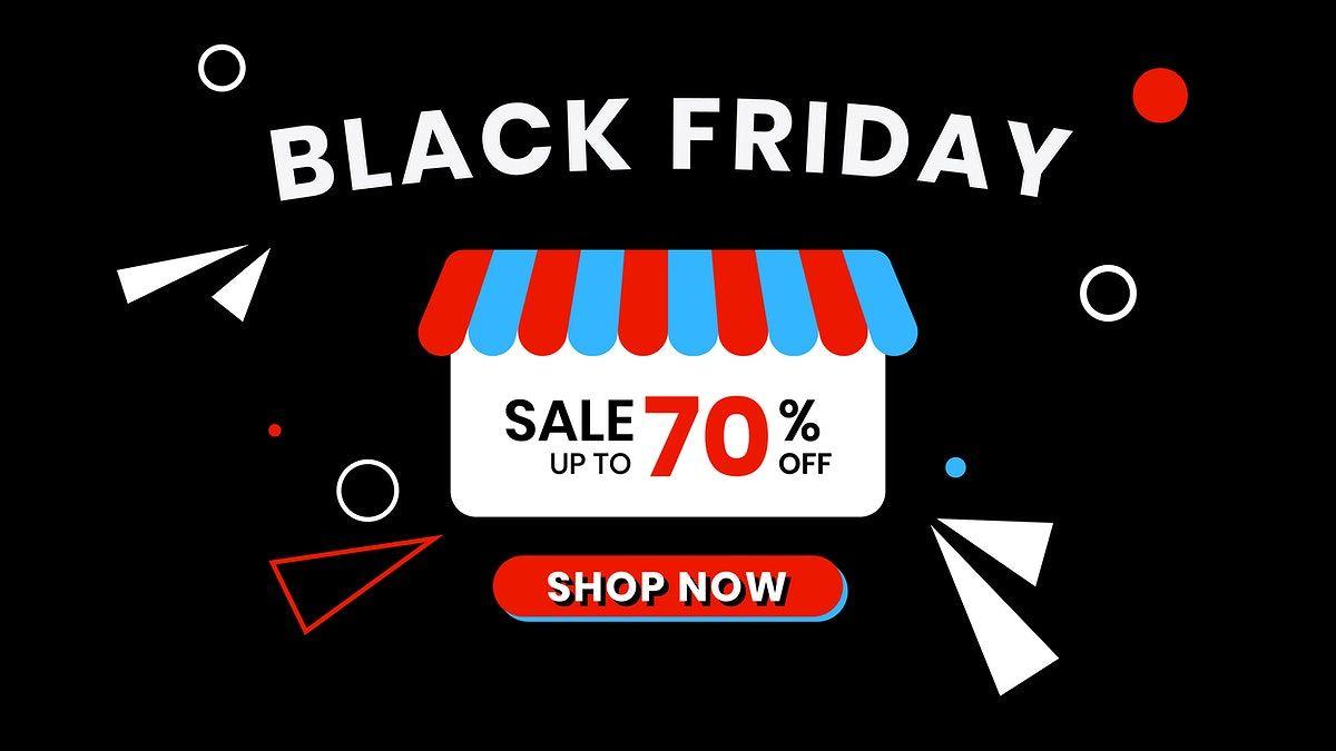 Download Premium Vector Of Black Friday 70 Off Vector Store Ad Template Black Friday Store Ads Event Banner