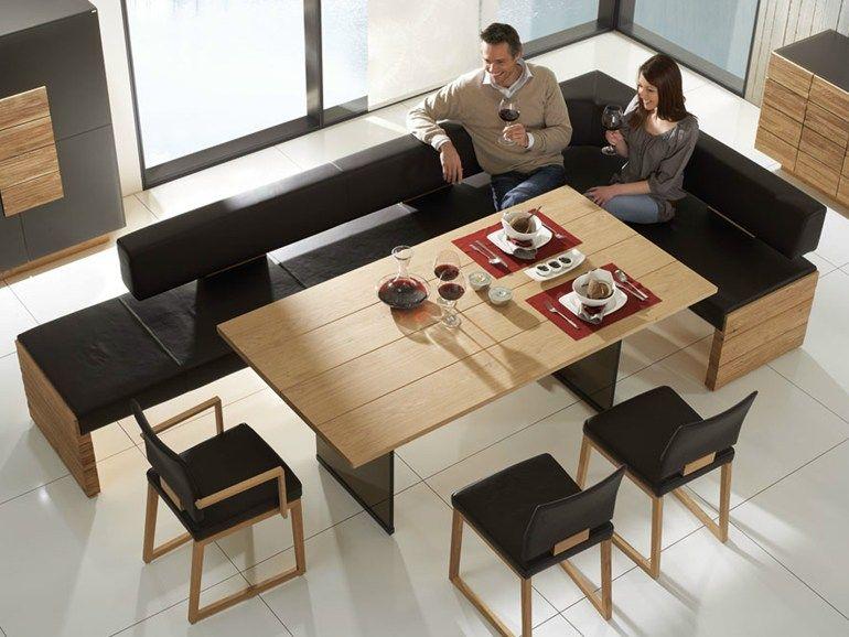 gepolsterte sitzbank aus holz v montana sitzbank voglauer wohnzimmer tisch esszimmer. Black Bedroom Furniture Sets. Home Design Ideas