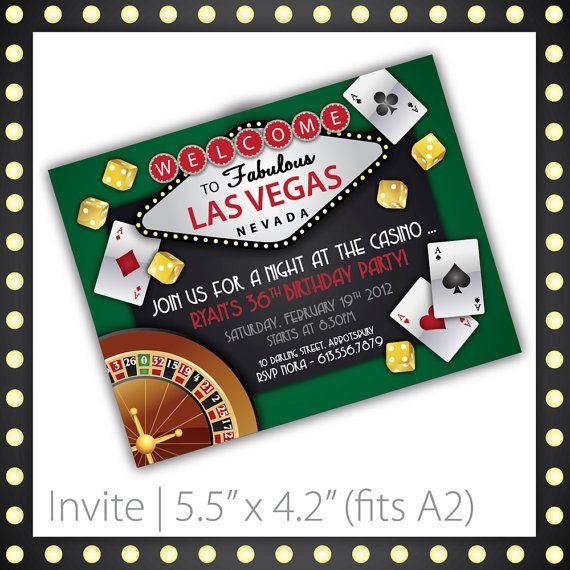 Casino invitations free templates Play Poker Online