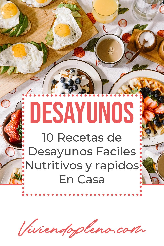 Desayunos Faciles Y Rapidos Para Preparar En Casa Recetas Desayuno Desayunos Rapidos Recetas Saludables