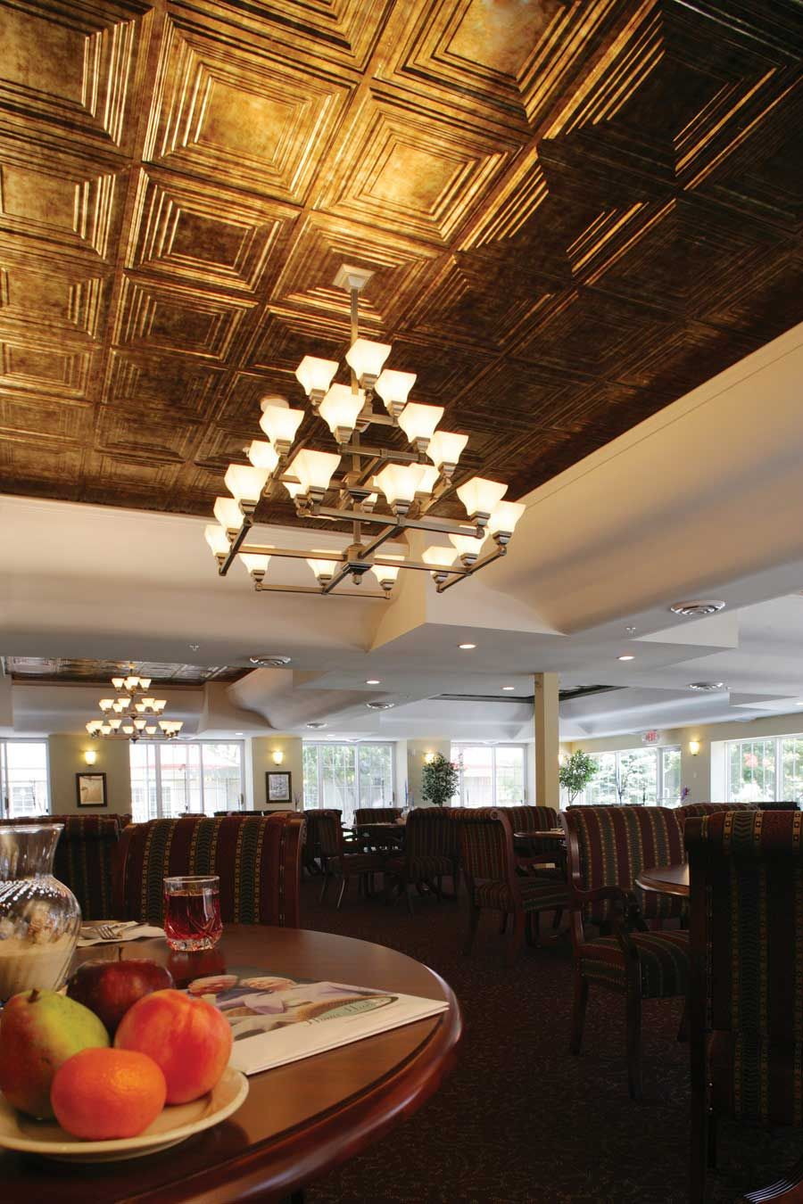 Sample Fasade Ceiling Lookes In Multiple Metallics And A