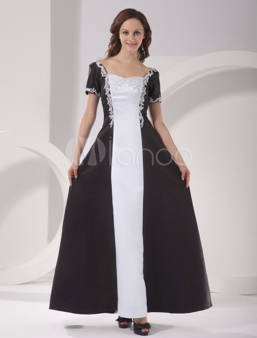 Milanoo ltd mother of the bride dresses short sleeves