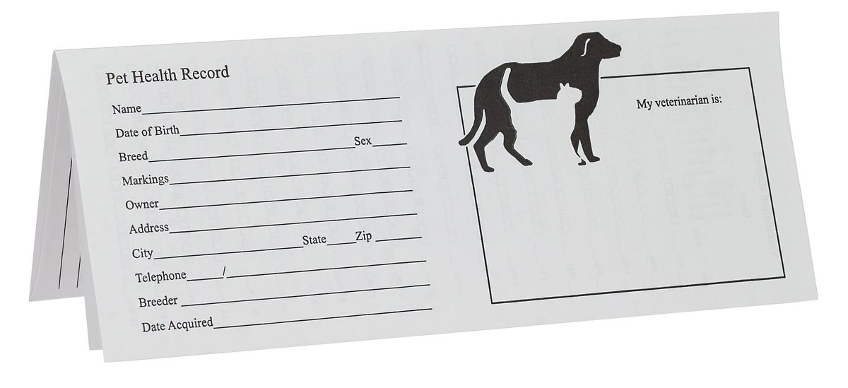 Printable Puppy Shot Records Pet For Dog Cats Health Instruments