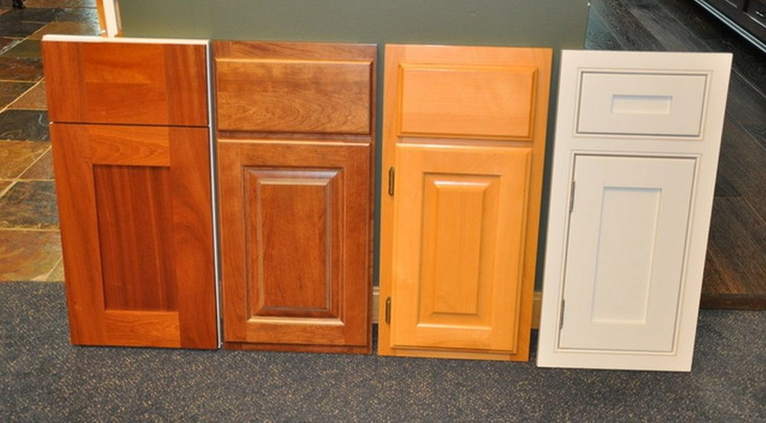 Main types of cabinet face frame construction + several of the main door types. From L to R (1) stain grade cherry  full overlay  or  frameless  or   ... & Main types of cabinet face frame construction + several of the main ...