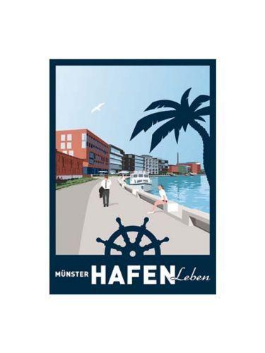 Poster Wentrup - Münster Hafen Leben hoch