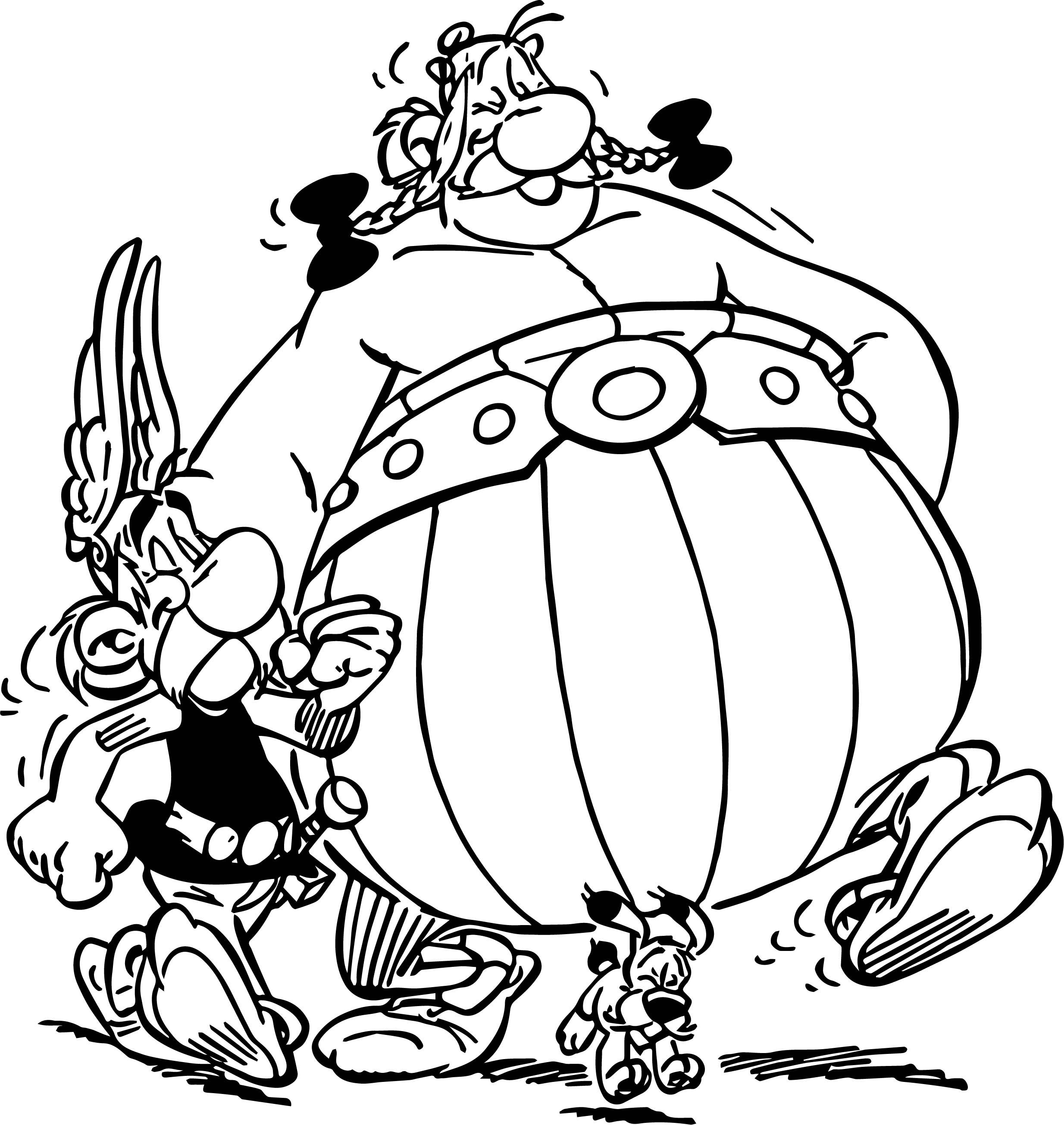 Awesome Asterix Obelix Dog Walking Coloring Page Cartoon Coloring Pages Coloring Pictures Coloring Books