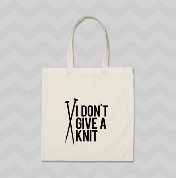 Cotton Bag Canvas Bag Knitting//Wool Gift, Shopping Bag Personalised Tote Bag