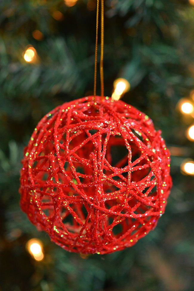 How to Make Glitter Ball Yarn Ornaments Using Ball