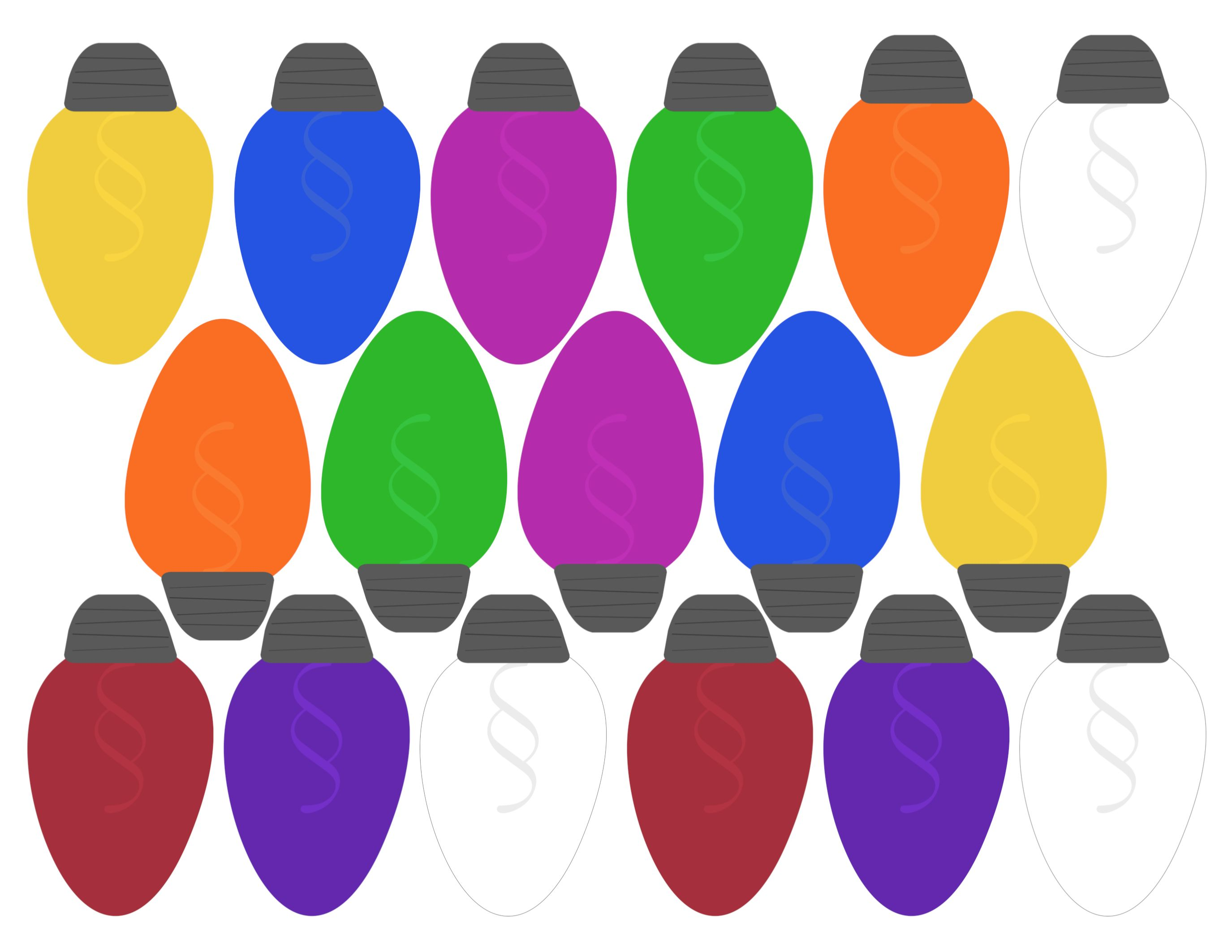 38+ Free printable christmas lights ideas