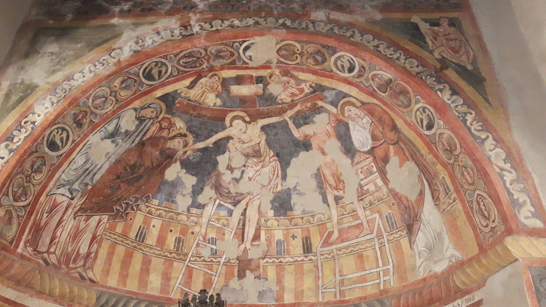 Chiesa di Santa Maria di Castello. Udine. Abside destra. XIII sec. Iconografia bizantina da Vangeli Apocrifi
