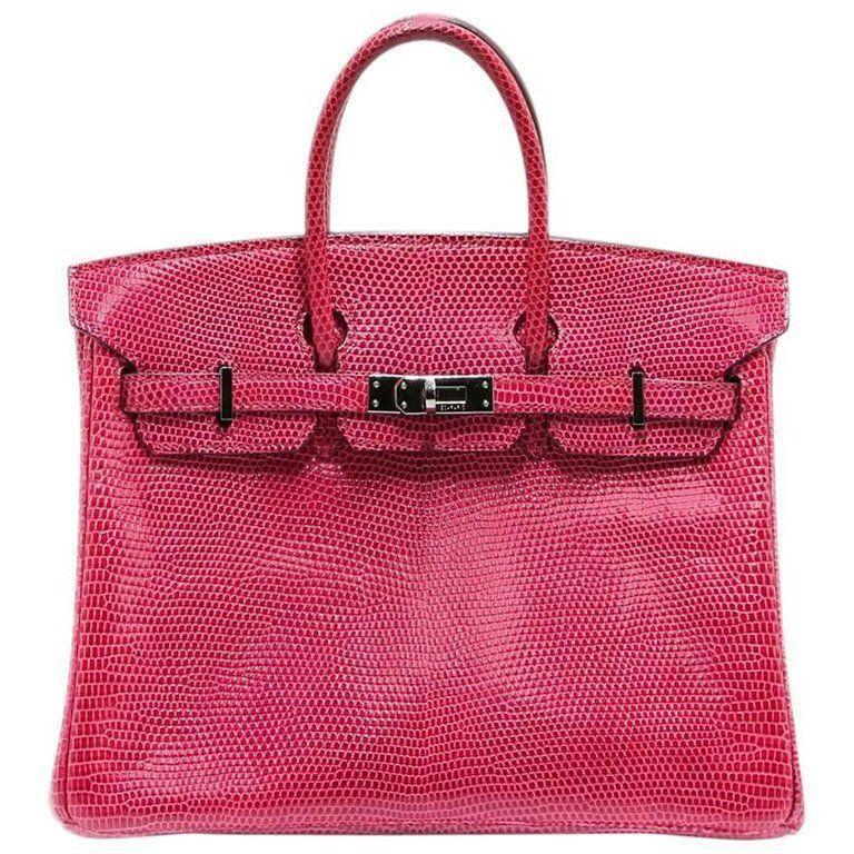 Hermès - Birkin 25cm Fuchsia Lizard Palladium Hardware Birkin Bag ( 43 18daed8a79e81