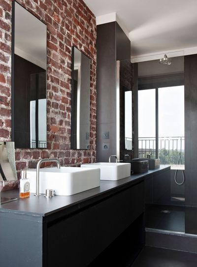 salle de bains ouverte sur la chambre suites parentales au top bath lofts and interiors. Black Bedroom Furniture Sets. Home Design Ideas