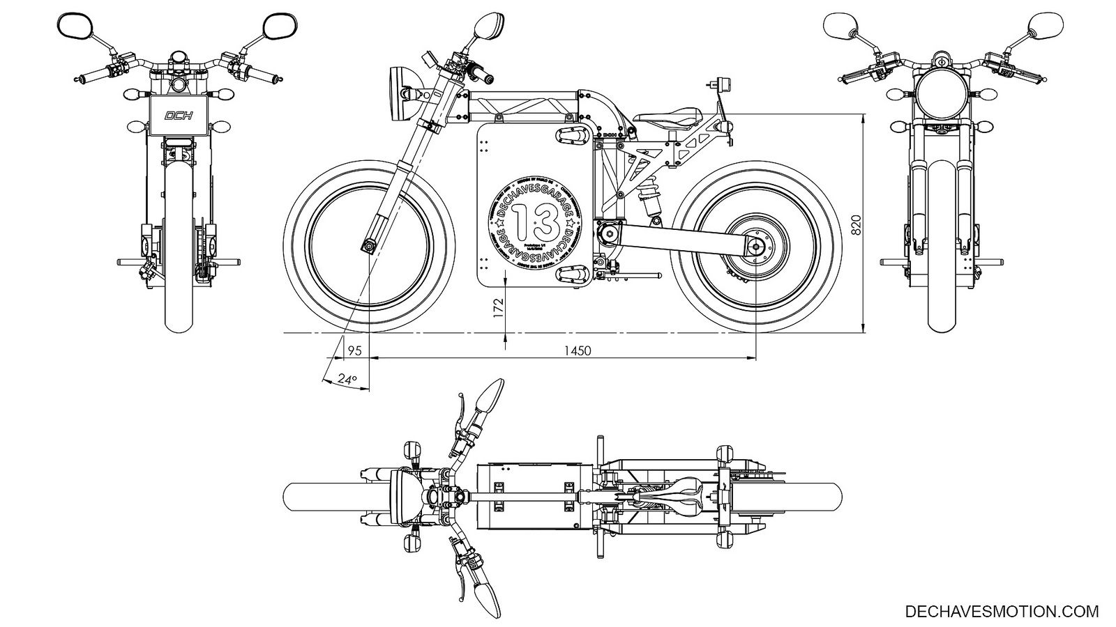 dechaves garage dch project  u2013 a naked electric motorcycle